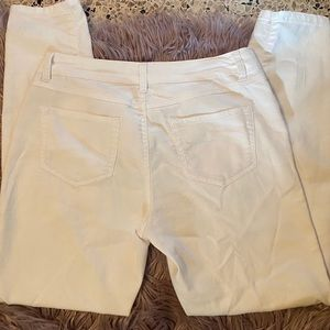 d.Jeans Modern fit High Waist Capri White pants
